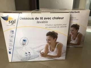 全新未開封100%新雙人床上睡眠發熱氈