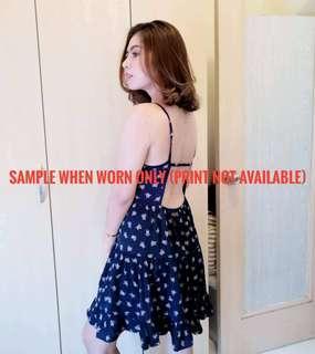 Sexy Back Printed Sleeveless Dress