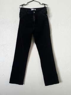 Highwaist curdoroy pants black