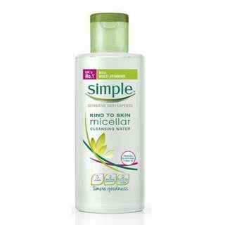 SIMPLE facial wash gel & micellar water