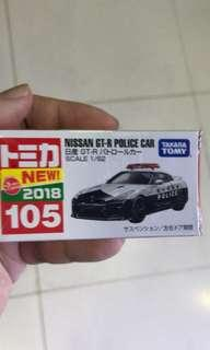 Tomica GTR Police with 2018 tag