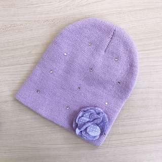 Girls knit beanie fits size 3-4