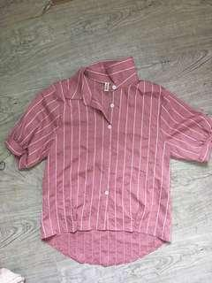 Pink Checkered Top