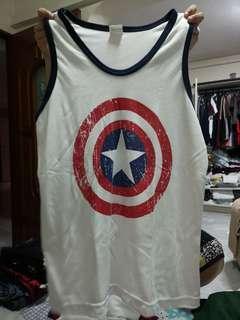 Captain America Gym Singlet
