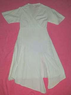 White Dress with slit
