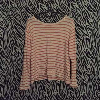 Loose stripe top