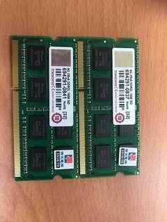 🚚 同品牌型號你能找得到更低-我就能賣更低: 創見 transcend 8GB 2Rx8 DDR3L 1600 SO 筆記型電腦記憶體  (商品已經拆封, 一條1900 NTD)