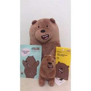 Authentic miniso grizzly bear