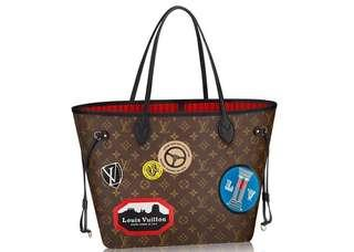 LV Louis Vuitton Neverfull MM World Tour Limited Edition