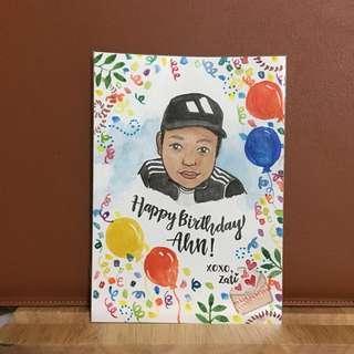 Portrait Watercolor | Birthday