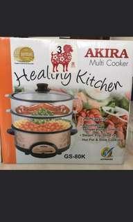 Akira Multi Cooker GS 80K Stir Fry Steam Hot Pot Slow Cooking