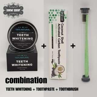 Paket Pemutih Gigi Charcoal Teeth Whitening Import Original