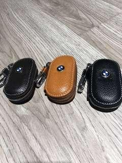 High quality universal BMW leather pouch for all key fob including motorcycle key fob