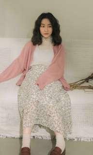 perdot粉色針織外套