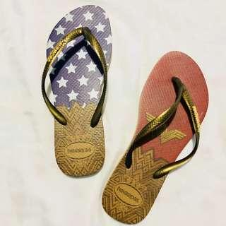 Authentic Havaianas Slim Wonder Woman