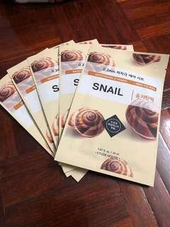 Snail facial mask ($5 each, $20 for 5 pcs)