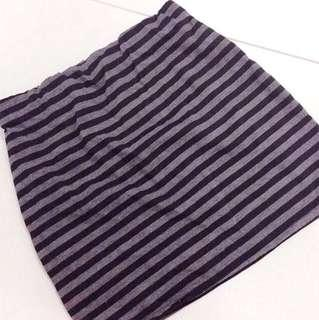 Striped Bodycon Skirt.