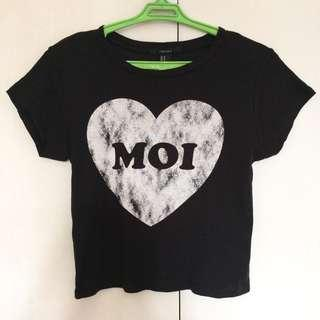 Forever 21 MOI Graphic Crop Top