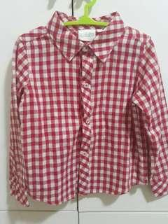 Red checkered long sleevees
