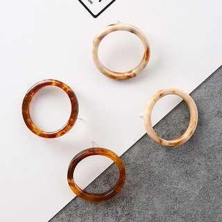 Retro Metal Circle Ring earrings FOR PREORDER