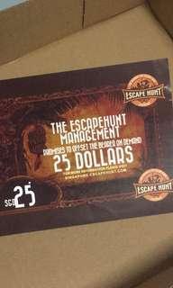Escape Hunt $25 Voucher