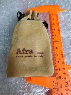 古老 Afra bijoux 絨布索帶袋 Vintage Afra bijoux hand made in Italy, flannel bag
