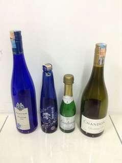 Empty Wine Glass Bottles