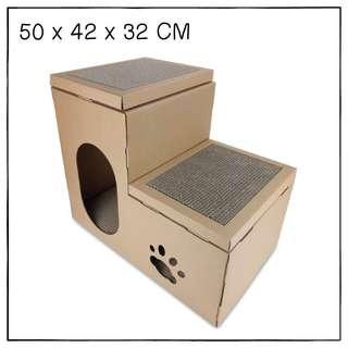 """Flats"" Cat Scratching Corrugated Board House"