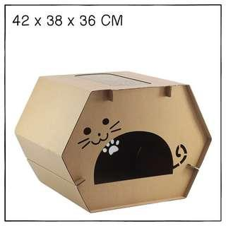 """Cave"" Cat Scratching Corrugated Board House"