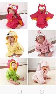 Baby hooded bath towel/ bathrobe