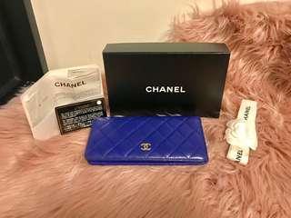 Chanel Bifold Yen Wallet in Royal Blue