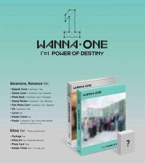 Preorder Wanna One Power Of Destiny