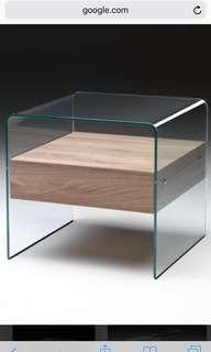 Fiam bedside table original with certs made in italy