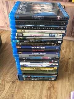 Blu-ray titles, 15 titles plus 1, 4pc boxset.