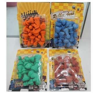 Chess Erasers Set