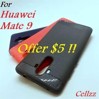 Huawei Mate 9 Carbon Fiber Rugged TPU Case