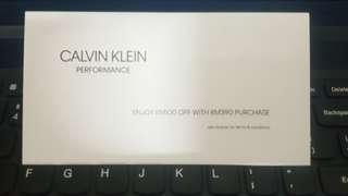 Calvin Klein cash voucher