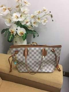 Louis Vuitton Neverfull Damier Azur Size PM