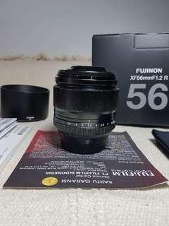 Fujinon XF 56mm F1.2 R Normal Lengkap Baret Lensa Bokeh Fujifilm