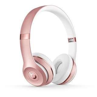 BNIB Beats Solo3 Wireless On-Ear Headphones Limited Special Edition Rose Gold (Head Phones Earphones Headphone)