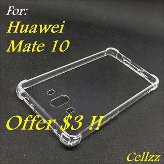 Huawei Mate 10 Clear Hybrid Bumper Case