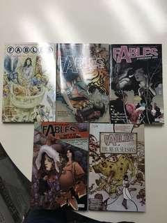 Fables TPB Trade Paperback Volume 1 to 5 by Vertigo Comics collecting #1 to #33