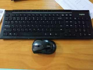 Rapoo 2.4G wireless keyboard and mouse set
