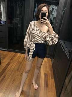 Off Shoulder Stripe Top