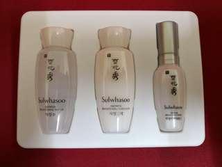 Sulwhasoo Snowise Brightening Water 15ml, Snowise Brightening Serum 8ml, Snowise Brightening Emulsion 15ml