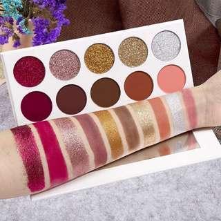 10 colors 5 Glitter + 5 Matte Eyeshadow Palette