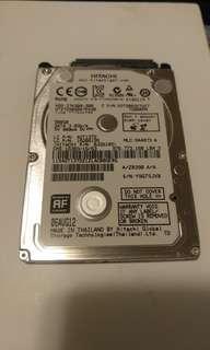 """HITACHI 500GB 7200RPM 7mm 2.5"""" HDD 硬碟 硬盤 (第3隻)"""