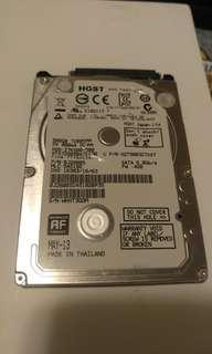 """HGST 500GB 7200RPM 7mm 2.5"""" HDD 硬碟 硬盤 (第4隻)"""