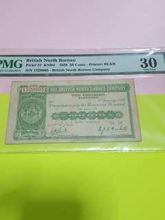 50 cents 1938-BNB PMG30.VERY RARE.