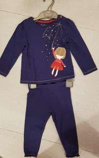 Mothercare top and bottom set - 12-18 mos